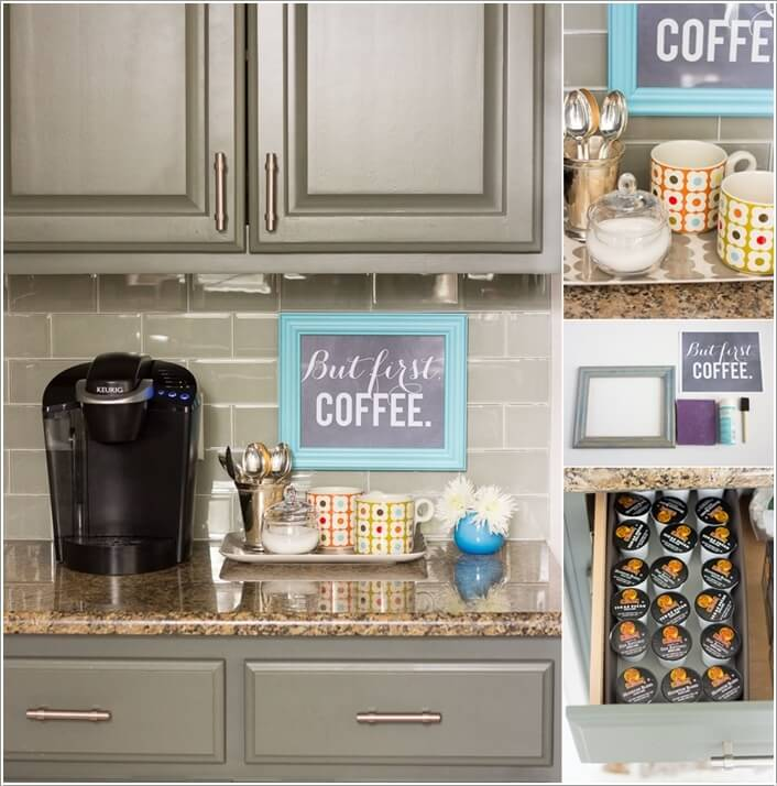 10 cool ideas to set up a home coffee station for Coffee station ideas for the home