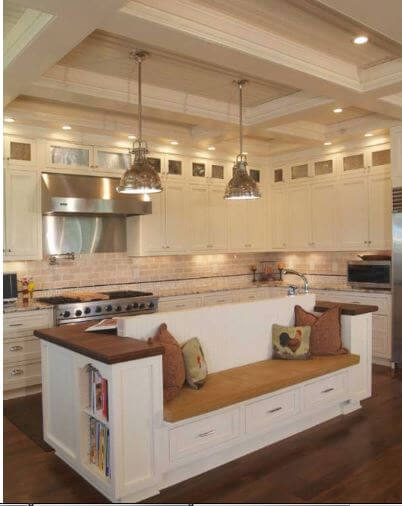 15 Practical Kitchen Island Designs With Seating | {Kücheninsel mit sitzgelegenheit 34}