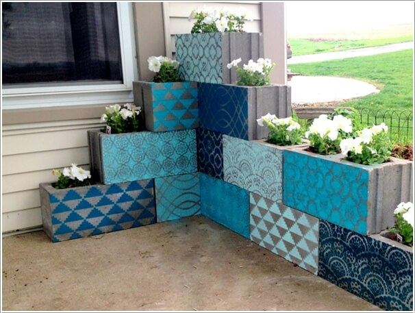 10 awesome ideas to design a cinder block garden ForPainting Cinder Blocks For Garden