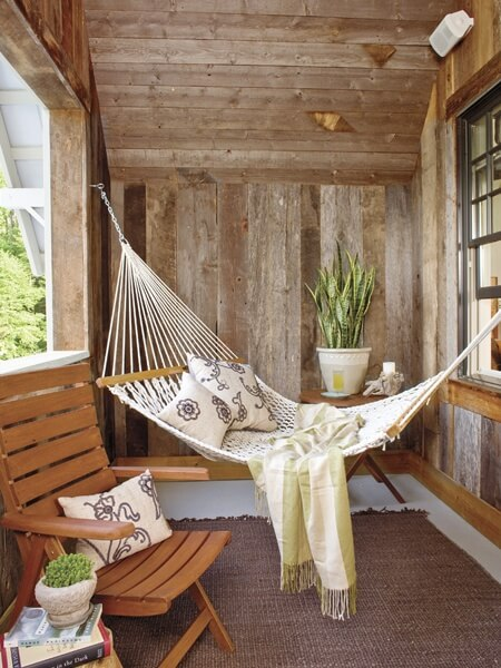 7. Kick your feet up in a hammock.