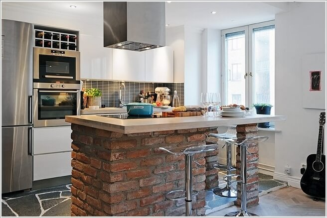Kitchen Island Ideas Brick 15 cool ideas to decorate your home with bricks