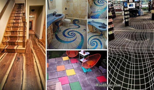 15 fascinating diy floor ideas for indoors and outdoors for Indoor outdoor flooring options