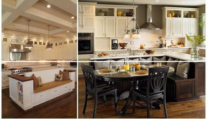 wonderful large kitchen island designs seating | 15 Practical Kitchen Island Designs With Seating