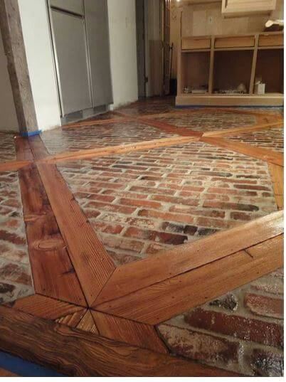 Wood and Bricks Floor