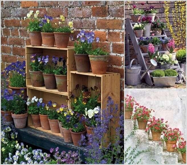 13 amazing outdoor terracotta pot display ideas for Garden display ideas