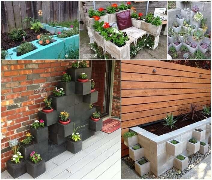 10 Awesome Ideas to Design a Cinder Block Garden on Backyard Cinder Block Wall Ideas id=57916