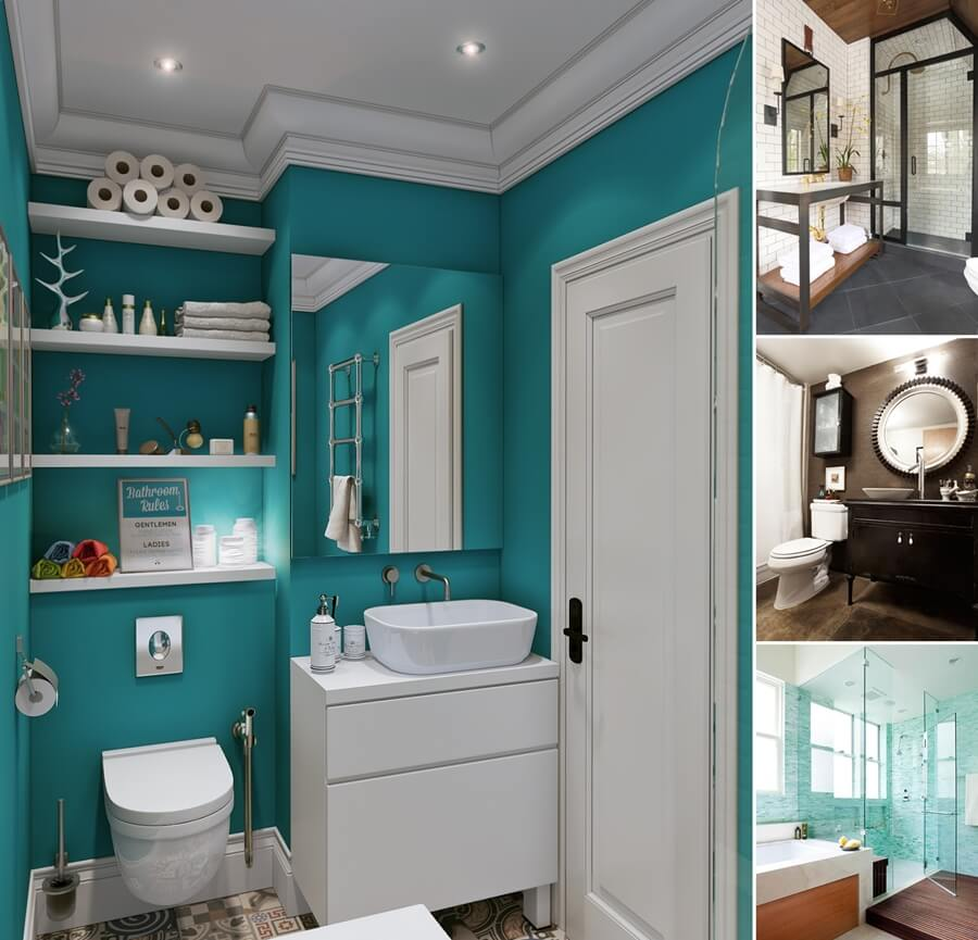 Small Bathroom Colors 2015 15 color schemes that work well in a small bathroom