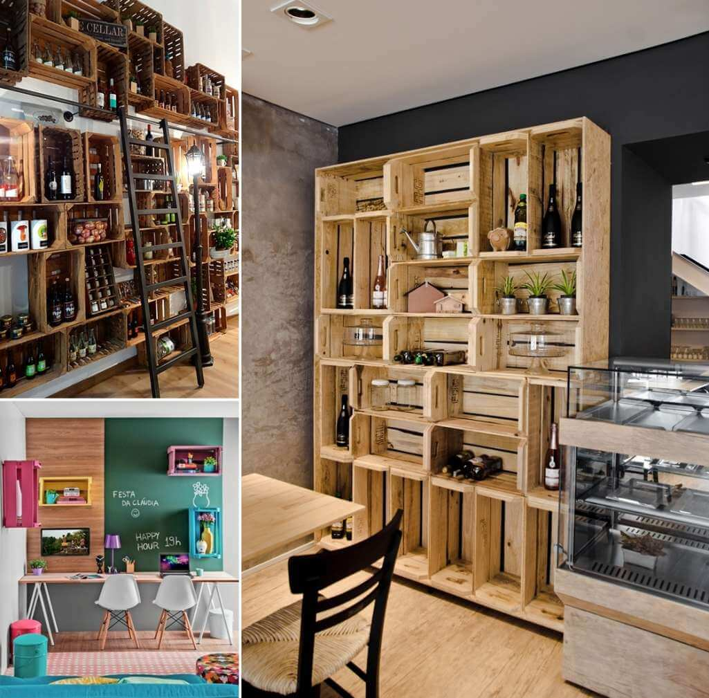 50 Amazing Wine Storage Design Ideas: 10 Cool Ideas To Organize Your Home With Wine Crates