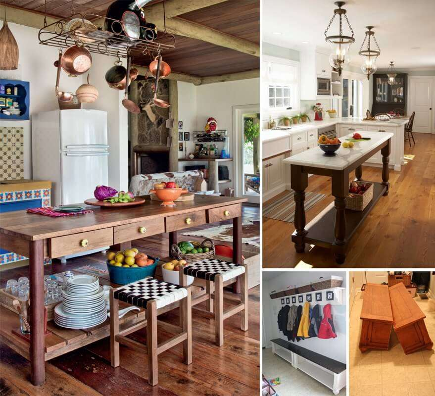10 Clever And Creative Old Table Recycle Ideas