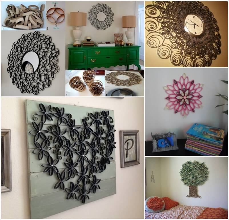30 wall decorations made from toilet paper roll Toilet paper roll centerpieces