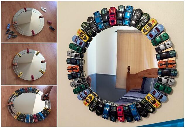 Toy Car Mirror Frame Hot Wheels