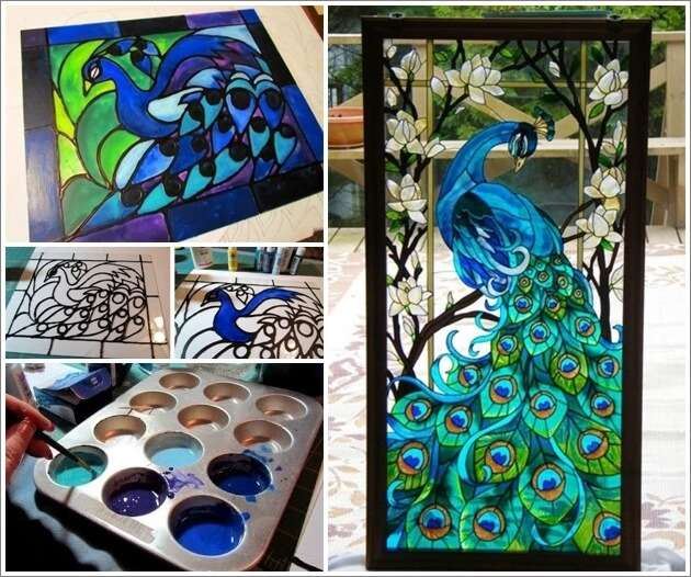 Who wants to know faux stained glass painting technique for Glass painting techniques