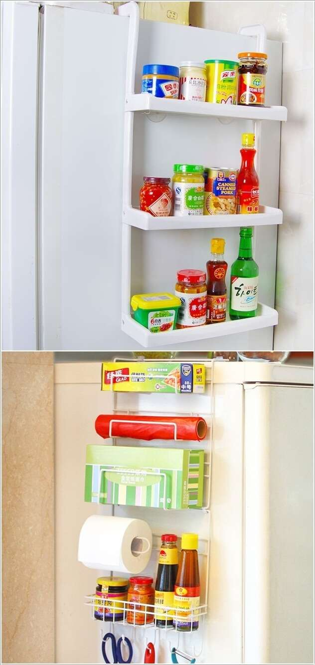 How To Hack The Empty Space Around Your Fridge