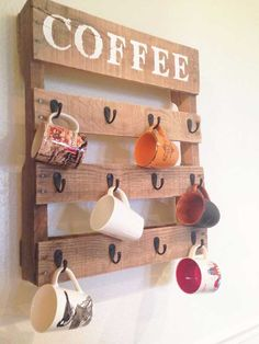 Kitchen mug rack  12 Cool DIY Kitchen Pallets Ideas That You Have To Try Kitchen mug rack