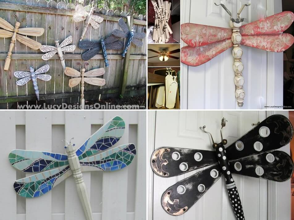 Look Table Legs And Fan Blades Made These Dragonflies