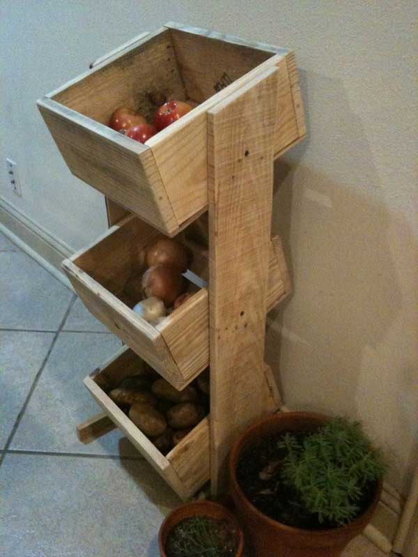 fruit storage  12 Cool DIY Kitchen Pallets Ideas That You Have To Try fruit storage