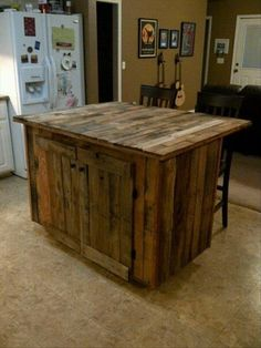 kitchen island  12 Cool DIY Kitchen Pallets Ideas That You Have To Try kitchen island