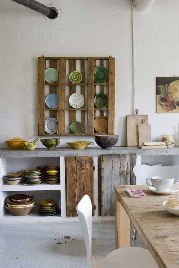 plate rack  12 Cool DIY Kitchen Pallets Ideas That You Have To Try plate rack