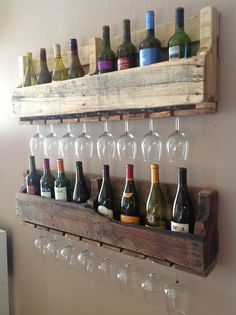 wine rack  12 Cool DIY Kitchen Pallets Ideas That You Have To Try wine rack