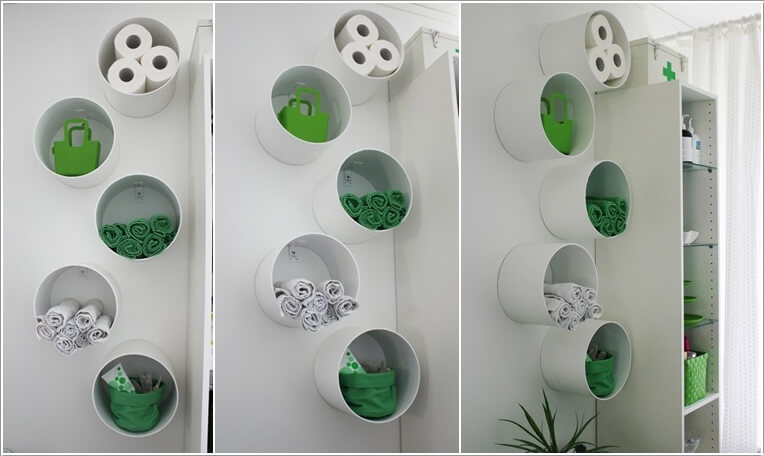 11  Create Storage on Your Bathroom Wall 112