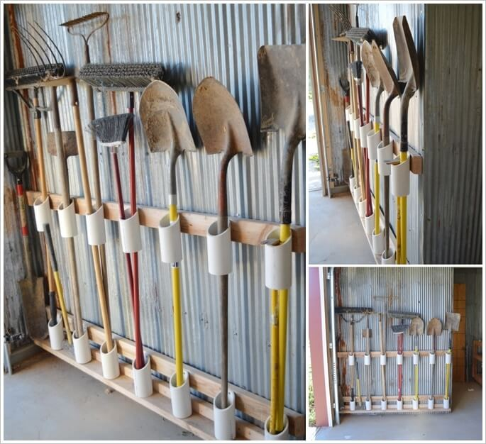 Merveilleux Organize Your Garden Tools Using Pvc Pipe