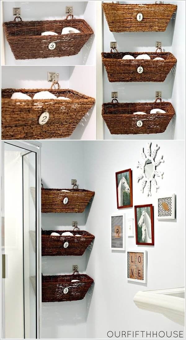 3  Create Storage on Your Bathroom Wall 33