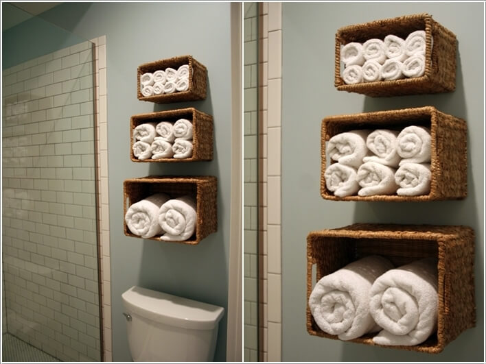 7  Create Storage on Your Bathroom Wall 73