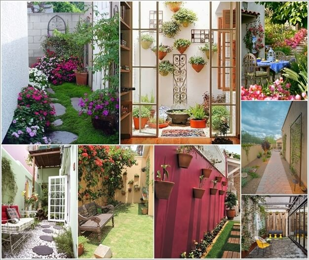 Decorate and Liven Up The Wall of Your Side Yard a