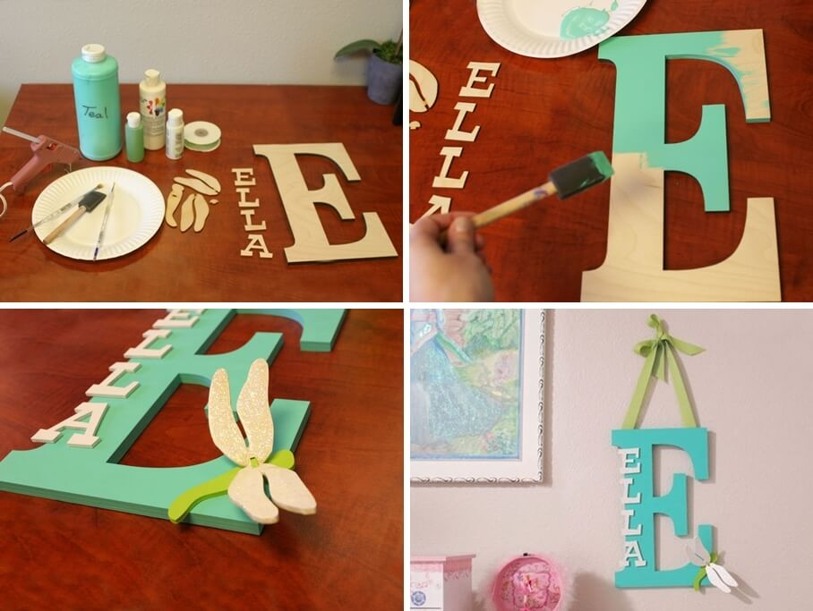 make a kids room monogram from wooden letters rh amazinginteriordesign com wooden letters for toddler room Anthony Name Letter for Room