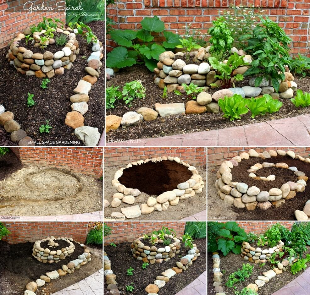 Look at this amazing spiral vegetable garden for Amazing garden designs