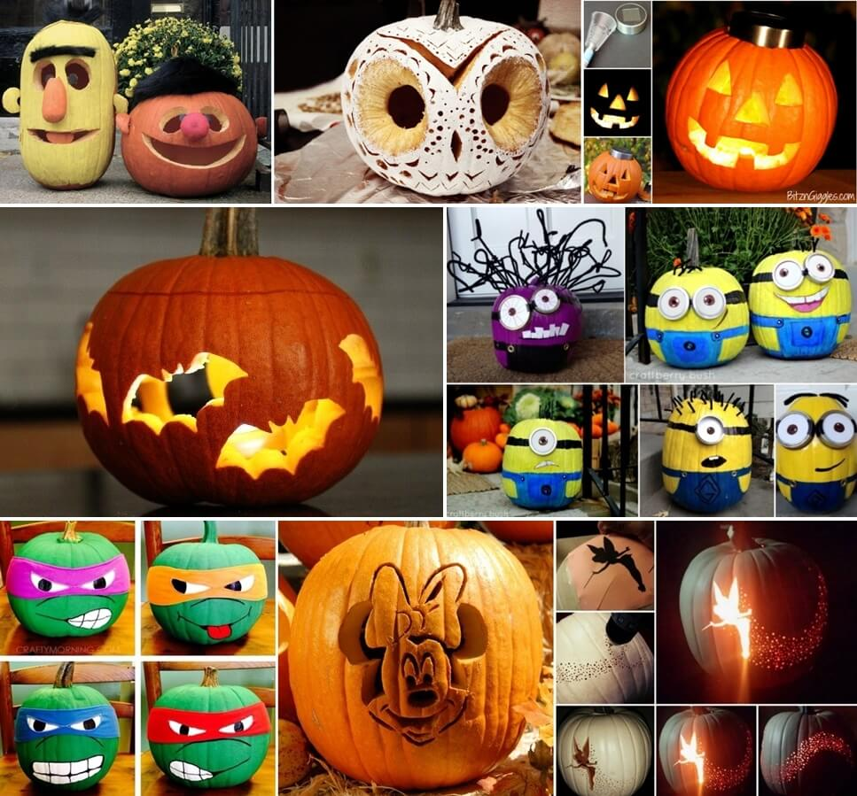 over 30 halloween pumpkin decorating ideas - Decorated Halloween Pumpkins