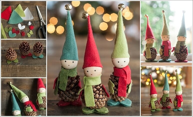 These Felt and Pinecone Elves Are Super Cute 1