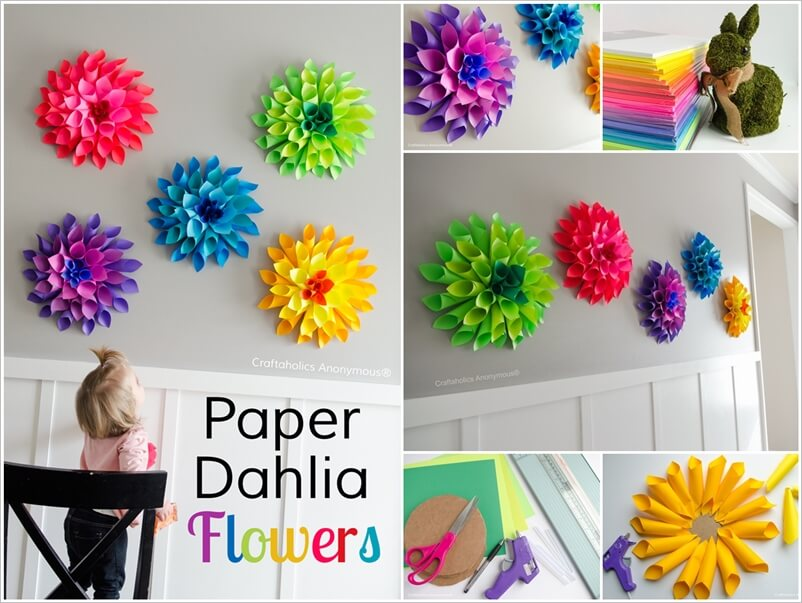 These Paper Dahlia Flowers Will Give You an Itch of Crafting