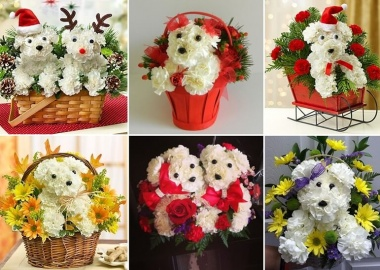 These Puppy Bouquets Are Guaranteed to Be a Party Decor Hit fi