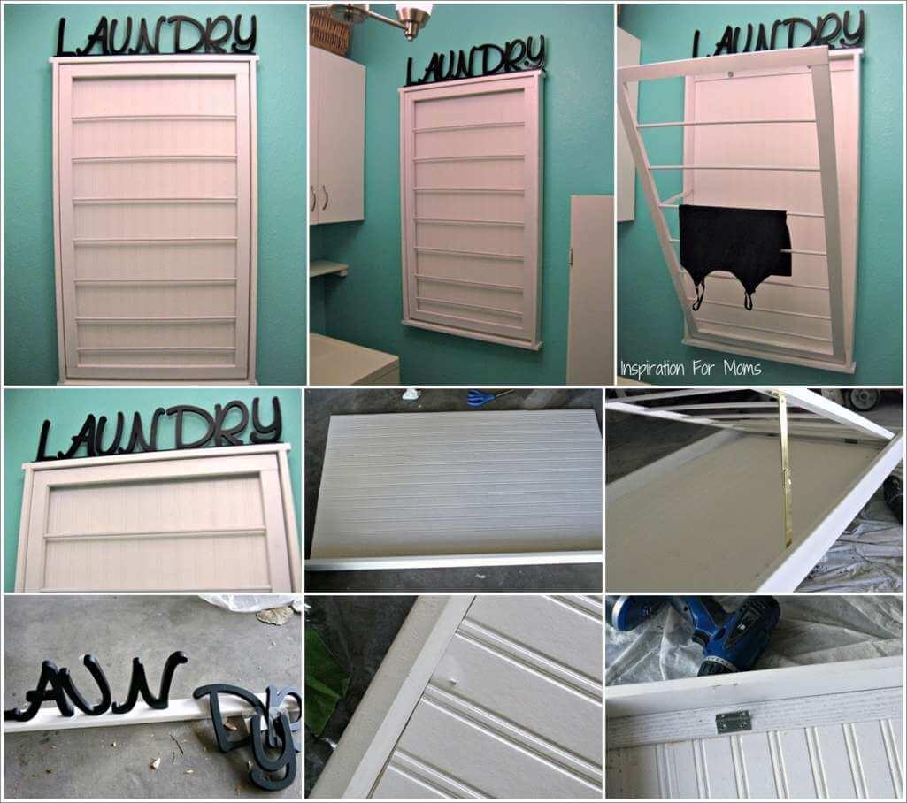 This Beadboard Laundry Drying Rack is Amazing 1