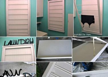 This Beadboard Laundry Drying Rack is Amazing fi