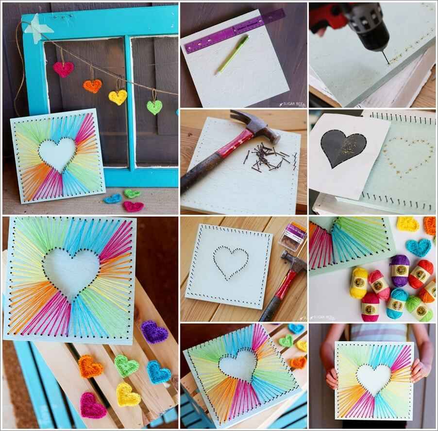 This Heart String Art is Just Lovely