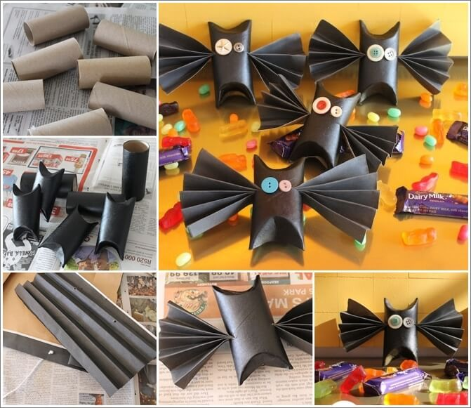 Try These Paper Roll Bats for Coming Halloween 1