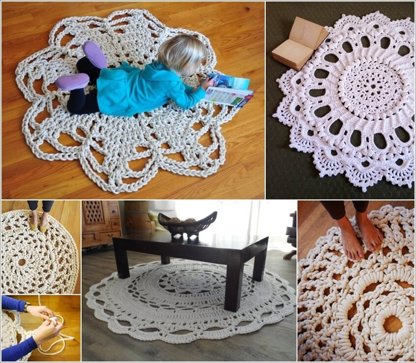 Would You Try a Giant Crochet Doily Rug 1