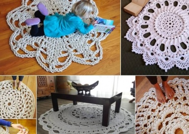 Would You Try a Giant Crochet Doily Rug fi