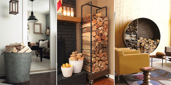 Beautiful Simplistic Ways To Store Firewood Inside