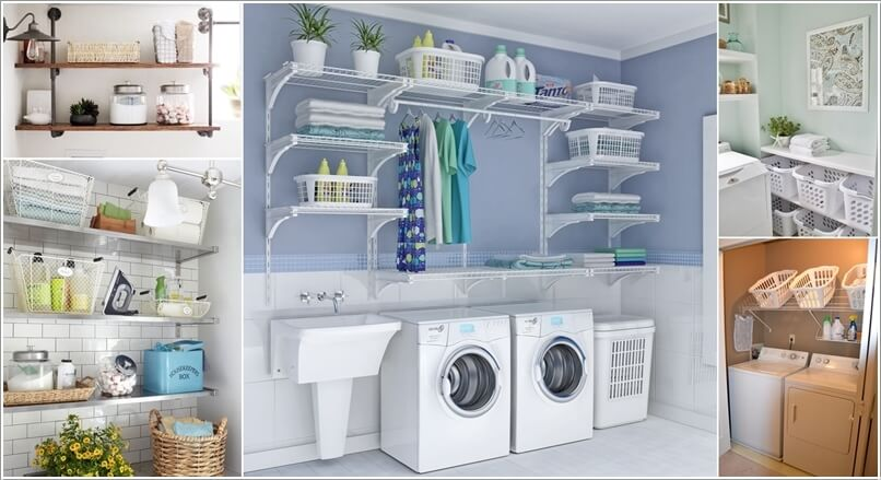 choose laundry room shelving that suits your needs and style a Laundry Room