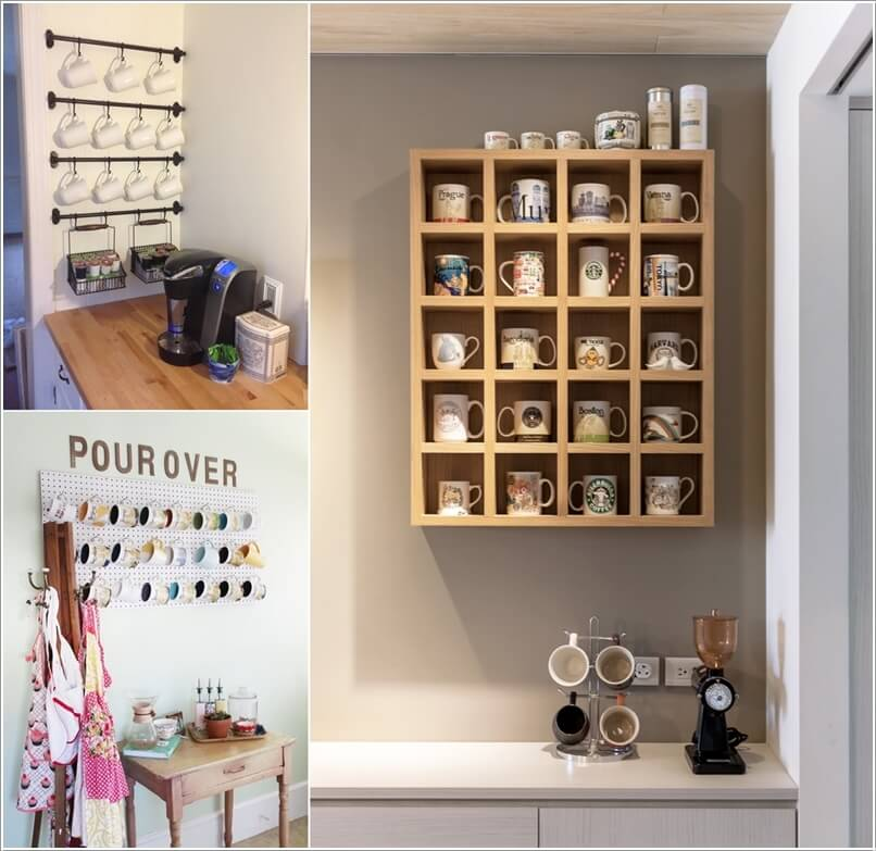 Cool and creative mug storage ideas for your kitchen for Creative shelf ideas