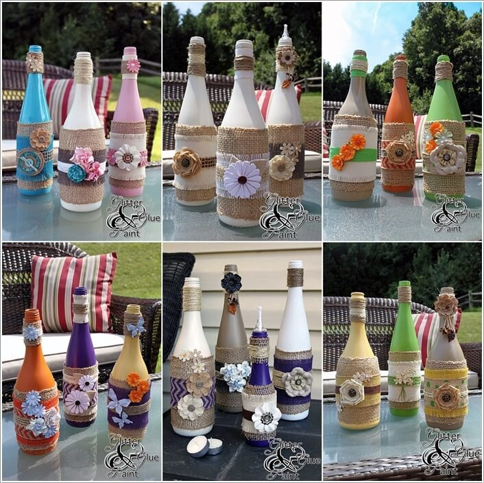Cool ways to decorate glass bottles - How to decorate old bottles ...