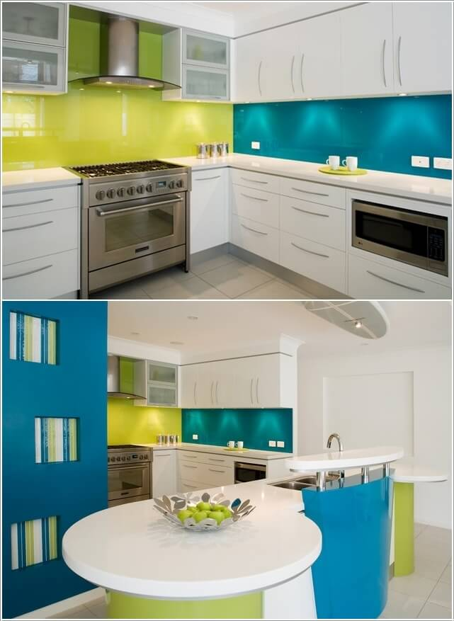 Design your kitchen with a cool color scheme for Cool kitchen paint colors