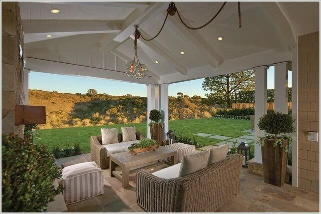 How About a Comfy Couch In Your Home's Outdoor Area 8