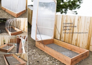 Look At This Amazing Covered Greenhouse Idea fi