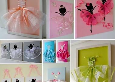 Make A  Cute Tutu Dress Wall Art With Ribbons fi