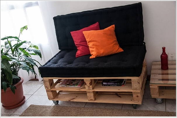 Make Furniture for Your Living Room with Pallets 1