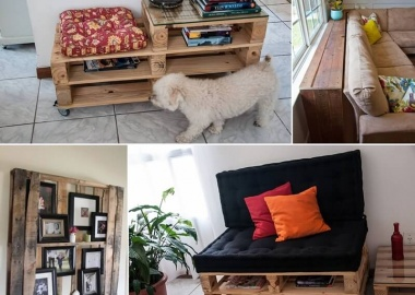 Make Furniture for Your Living Room with Pallets fi